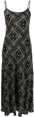 Rixo Fitted Bandana Print Slip Dress