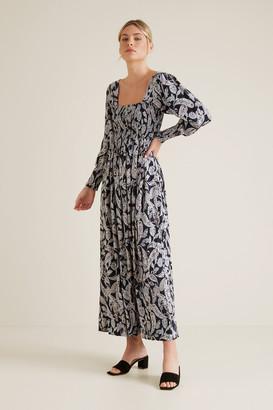 Seed Heritage Shirred Paisley Dress