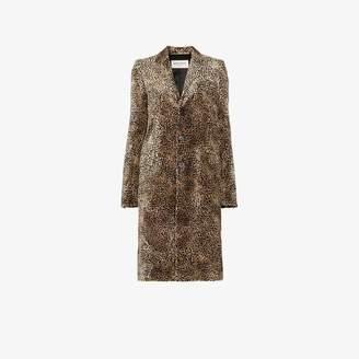 Saint Laurent Chesterfield leopard print coat