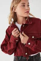 Urban Outfitters Oversized Cropped Denim Trucker Jacket
