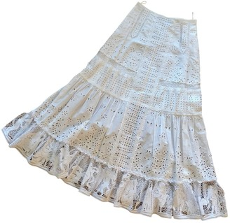 Loewe White Cotton Skirt for Women