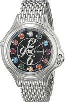 Fendi Women's F105031000T05 Crazy Carats Analog Display Swiss Quartz Silver Watch