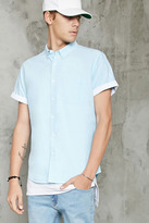Forever 21 FOREVER 21+ Slim-Fit Contrast-Cuff Shirt
