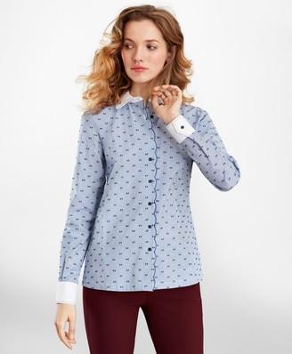 Brooks Brothers Clip-Dot Cotton Dobby Shirt
