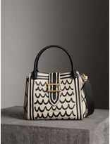 Burberry The Medium Buckle Tote in Trompe L'oeil Print Leather