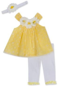 Rare Editions Baby Girls 2-Pc. Daisy Tunic & Leggings Set
