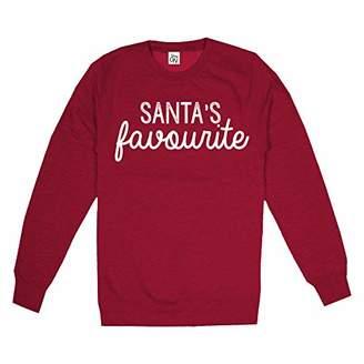 Game On Women's Santas Favourite Sweatshirt, Hot Chilli Red, (Size:Medium)