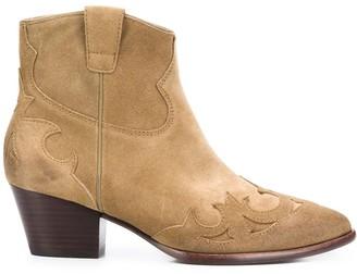 Ash Harlow block-heel ankle boots