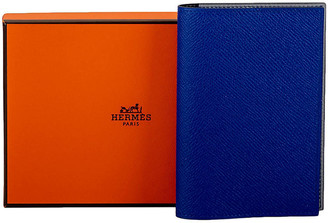 One Kings Lane Vintage Hermes BNIB Blue Passport Cover Unisex - Vintage Lux