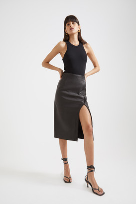SABA Lilia Leather Pencil Skirt