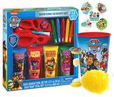 """Nickelodeon Paw Patrol 12pc Bath Time Activity Gift Set, Bath Scrubby, Rinse Cup & """"Time To Get Out"""" Bath Timer! Plus Bonus Paw Patrol Stocking Stuffer Holiday Stickers!"""
