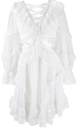 Zimmermann cut-out ruffled dress