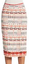 Donna Karan Woven Pencil Skirt