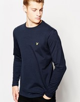 Lyle & Scott T-shirt With Eagle Logo Long Sleeves - Blue