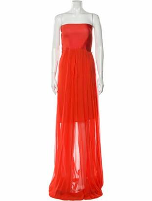 Alexis Square Neckline Midi Length Dress w/ Tags Orange
