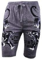 Ed Hardy Men's Top Hat Tiger Lounge Shorts
