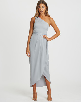 CHANCERY - Women's Grey Bridesmaid Dresses - Esther Pleated Dress - Size One Size, 10 at The Iconic