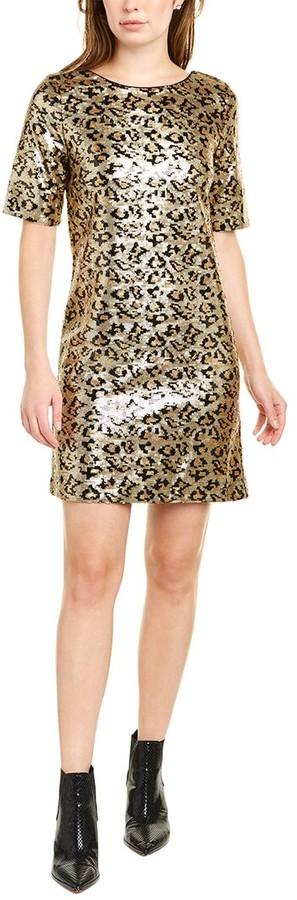 Betsey Johnson Sequin Leopard Shift Dress