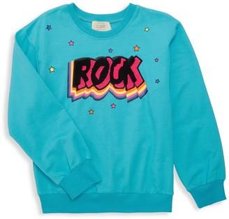 Hannah Banana Girl's Graphic Cotton-Blend Sweatshirt