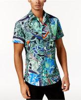 Versace Men's Eclectic-Print Shirt