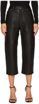 McQ Cropped '59 Leather Pants Women's Dress Pants
