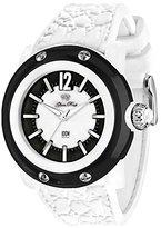 Glam Rock Unisex Miami Beach 46mm White Silicone Band Quartz Watch Gr2400