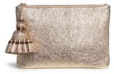 Anya Hindmarch 'Georgiana' crinkled metallic leather clutch
