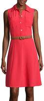 Liz Claiborne Sleeveless Belted Shirtdress
