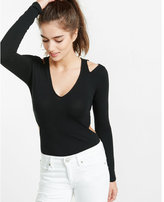 Express long sleeve cut-out tee