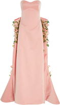Zac Posen Embroidered Duchess Gown