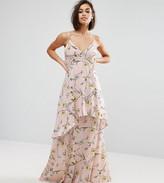 Boohoo Petite Floral Chiffon Maxi Dress