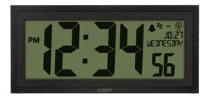 "La Crosse Technology 15"" Lcd Textured Atomic Clock"
