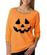 Changeshopping Women Halloween Pumpkin Print Long Sleeve Sweat Pullover Tops Shirt (XL, )