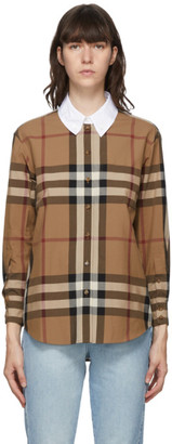 Burberry Brown Check Carlota Shirt