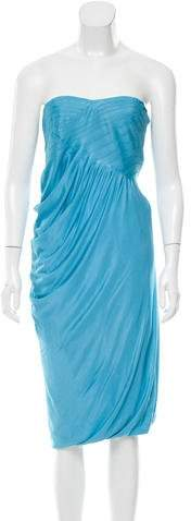 Yigal Azrouel Ruched Strapless Dress