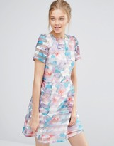 Oasis Digital Floral Organza Prom Dress