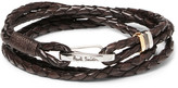 Paul Smith Woven Leather Wrap Bracelet - Brown