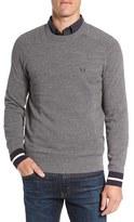 Fred Perry Men's Stripe Cuff Pique Knit Crewneck Sweater