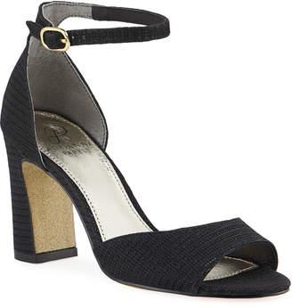 Adrianna Papell Aviana Glitter-Heel Sandals