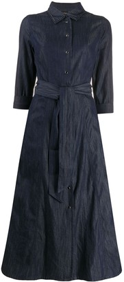 Twin-Set Denim Midi Shirt Dress