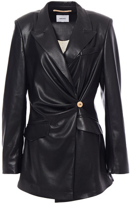 Nanushka Blair Wrap-effect Vegan Leather Blazer
