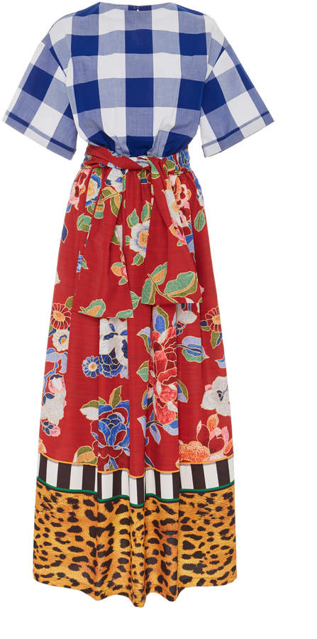 Stella Jean Printed Voile Maxi Dress