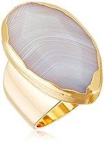 "Diane von Furstenberg Disco Agate"" Agate Stone Ring, Size 7"