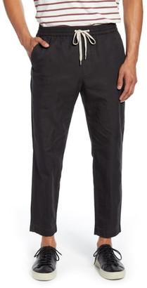 AllSaints Luckett Straight Leg Cotton & Linen Pants