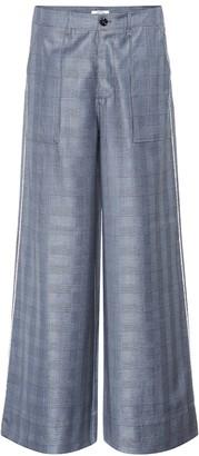 Ganni Merkel silk and wool-blend pants