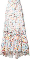 Peter Pilotto abstract printed maxi skirt - women - Cotton - 6