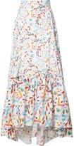 Peter Pilotto abstract printed maxi skirt - women - Cotton - 6