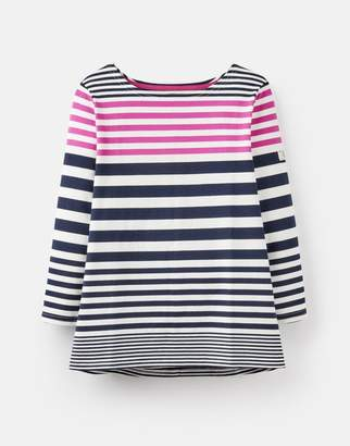 Joules 208566 3/4 Length Sleeve Jersey Striped Top