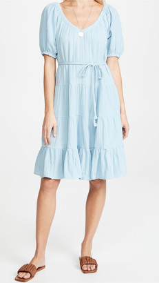 La Vie Rebecca Taylor Short Sleeve Double Gauze Dress