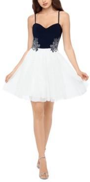 Blondie Nites Juniors' Applique Dress